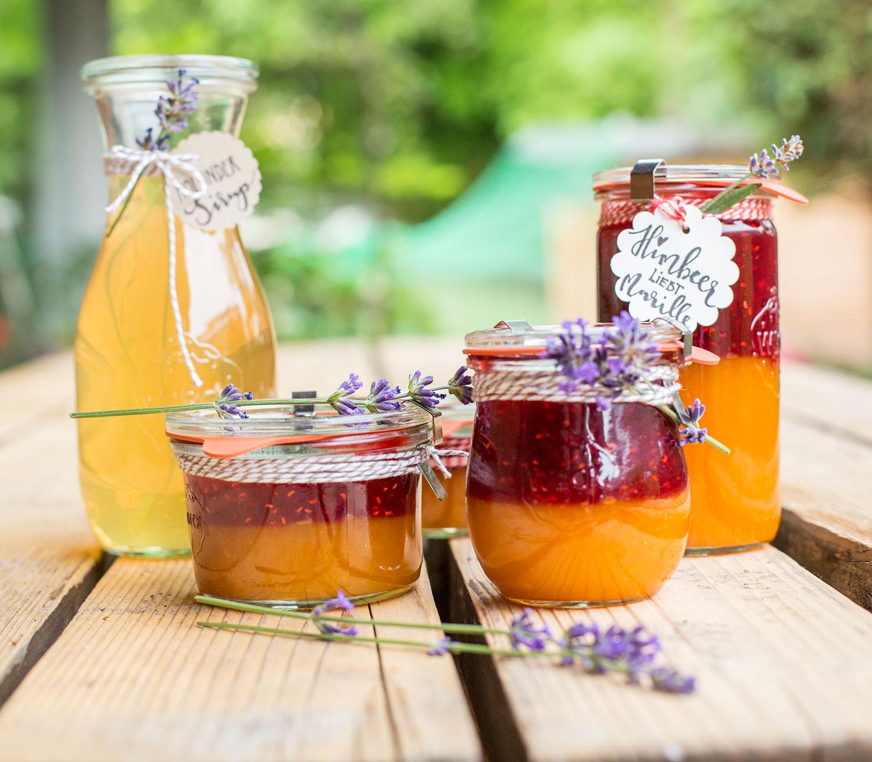 """Marmelade """"Himbeer liebt Marille"""": unser Rezept für alle Zuckerpuppen unter uns."""