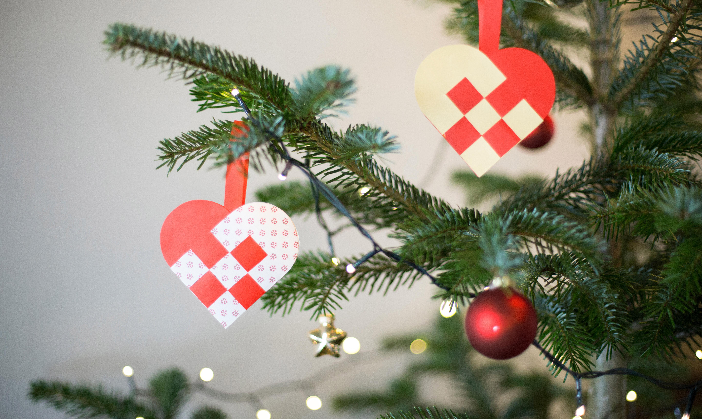 Weihnachtstrohherz aus Schweden Weihnachtsdeko Strohherz
