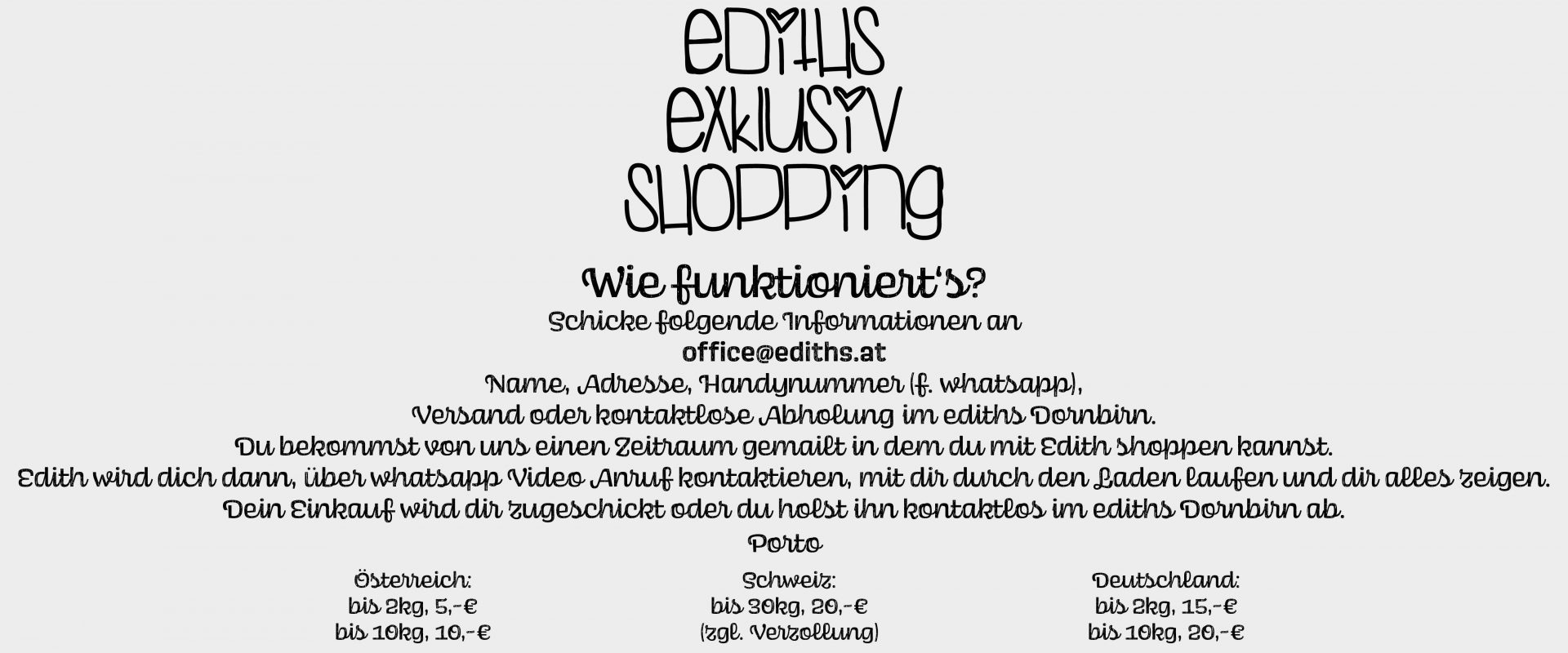 ediths exklusiv Shopping